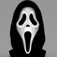 Small Ghostface from Scream bust ready for full color 3D printing 3D Printing 233121
