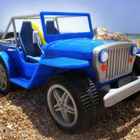 Small beach jeep 3D Printing 23326