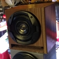 "Small Speaker Enclosure with Baffles for 4"" Speaker 3D Printing 233355"