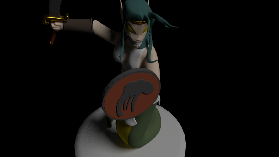 Naga Warrior from Steem Monsters 3D Print 233508
