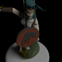 Small Naga Warrior from Steem Monsters 3D Printing 233508