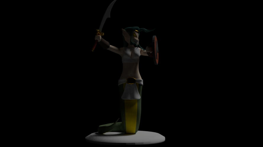 Naga Warrior from Steem Monsters 3D Print 233509
