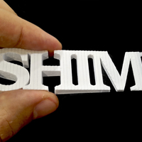 Small Shim the shim 3D Printing 233524