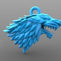 Small Game of thrones stark keychain 3D Printing 233570