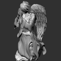 Small Angel Praying 3D Printing 233615
