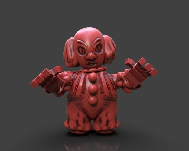 Cartoon Pennywise 3D Print 233657