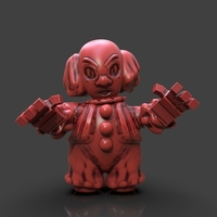 Small Cartoon Pennywise 3D Printing 233657