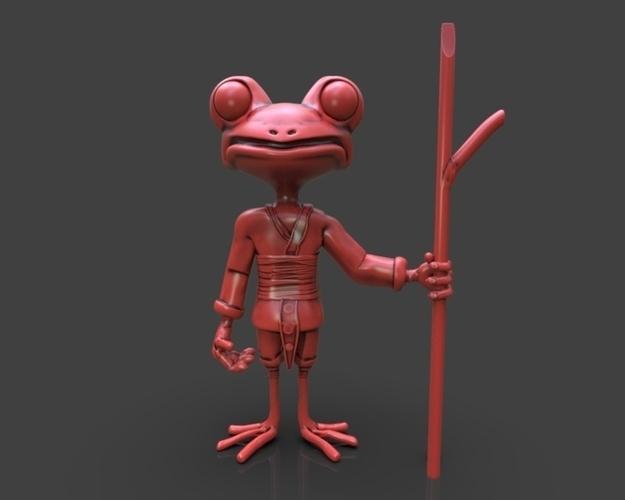 3d Printed Stylized Frog Ninja By Shinpaburo Pinshape