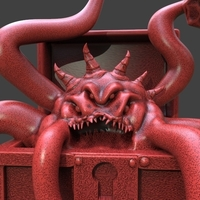 Small Mimic Chest Monster 3D Printing 233704