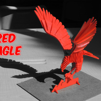 Small 3D PUZZLE : RED EAGLE 3D Printing 233750
