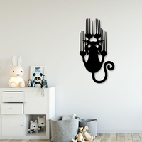 Small Slipping cat for wall decoration 3D Printing 233914