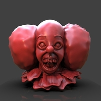 Small It Pennywise Bust 3D Printing 233947