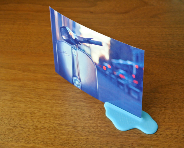 Puddle Card Stand 3D Print 23402