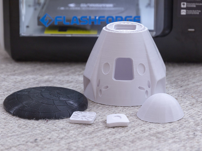 SpaceX Dragon 2 Crew Capsule     (updated; more STLs) 3D Print 234094