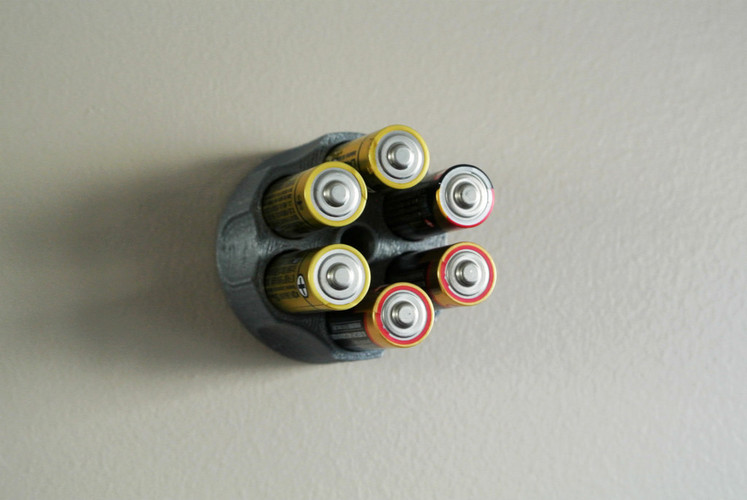 AA battery holder 3D Print 23410