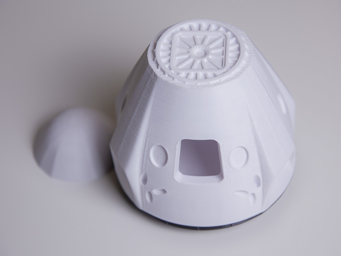 SpaceX Dragon 2 Crew Capsule     (updated; more STLs) 3D Print 234102