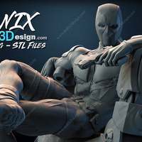 Small DEADPOOL 3d Print Model 3D Printing 234107