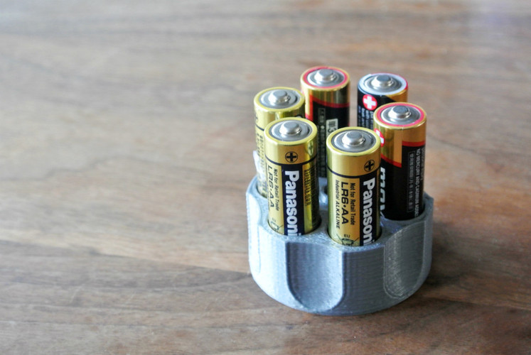 AA battery holder 3D Print 23411