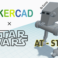 Small Simple AT-ST with Tinkercad 3D Printing 234236