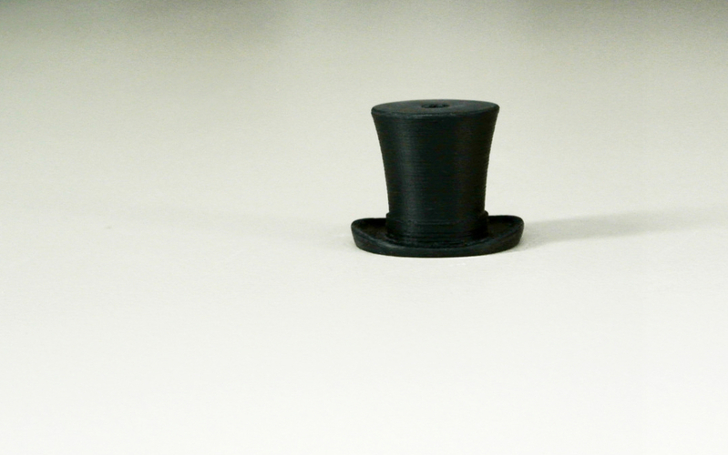 Silk hat hook 3D Print 23424
