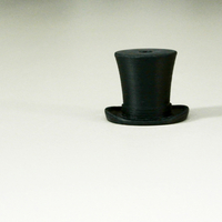 Small Silk hat hook 3D Printing 23424