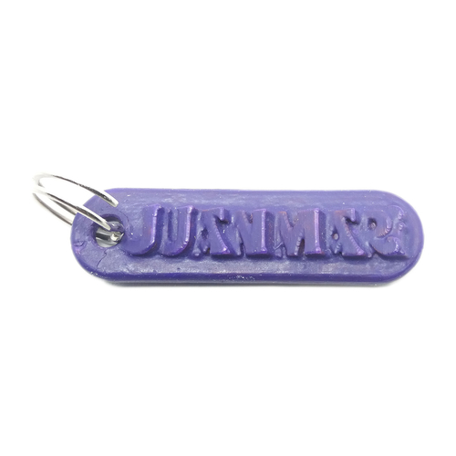 JUANMARI Personalized keychain embossed letters 3D Print 234283