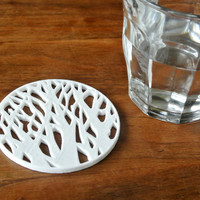 Small Tree silhouette coaster 3D Printing 23430