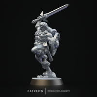 Small Classic Barbarian - 32 - 35mm Scale 3D Printing 234446