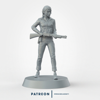 "Small Left 4 Dead ""Zoey"" Miniature 35mm Scale 3D Printing 234448"