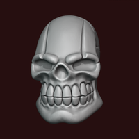 Small Skull stylized 3D Printing 234466