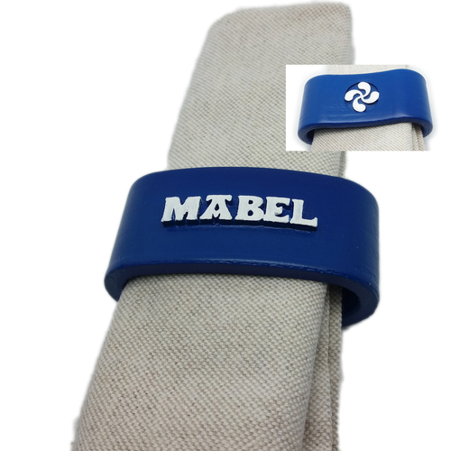 MABEL 3D Napkin Ring with lauburu 3D Print 234494