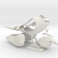Small crow neutral pose 3D Printing 234540