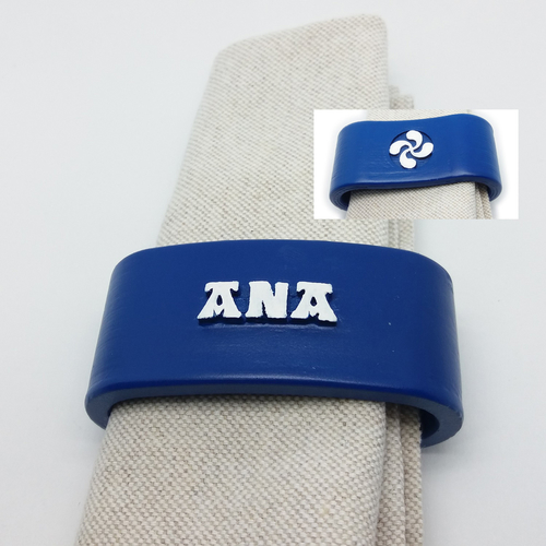 ANA 3D Napkin Ring with lauburu 3D Print 234590