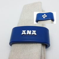 Small ANA 3D Napkin Ring with lauburu 3D Printing 234590