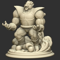 Small Oozaru Vegeta - Dragon ball 3D print model 3D Printing 234606