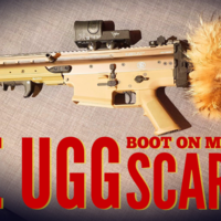 Small The UGG boot Killer - ICS ACR Stock Adapter for SCAR 3D Printing 234641