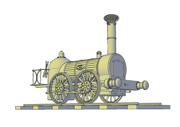 1836 Bury goods locomotive 3D Print 234658