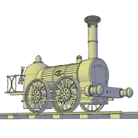 Small 1836 Bury goods locomotive 3D Printing 234658