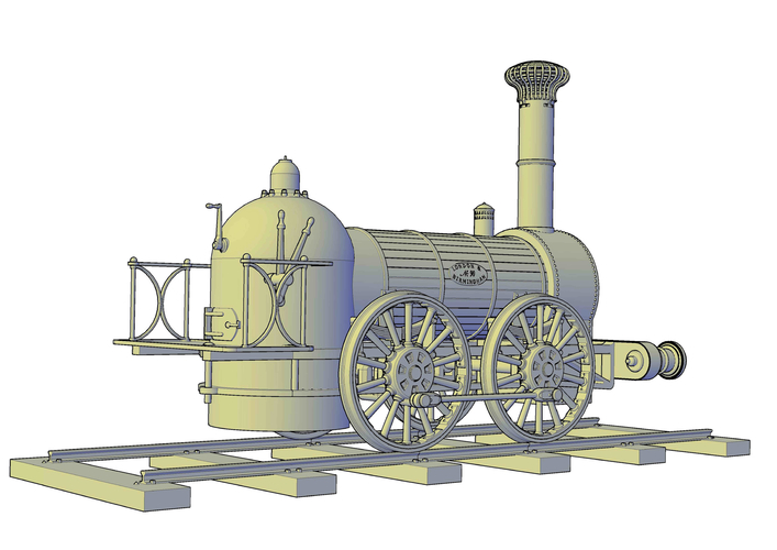 1836 Bury goods locomotive 3D Print 234659