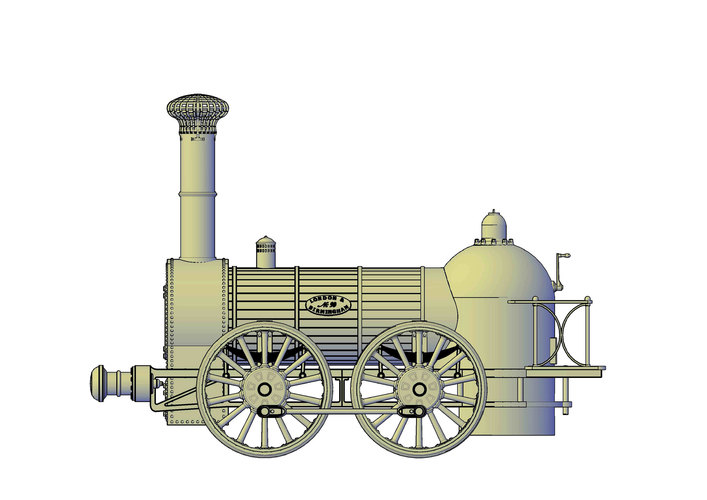 1836 Bury goods locomotive 3D Print 234660