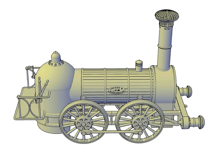 1836 Bury goods locomotive 3D Print 234662