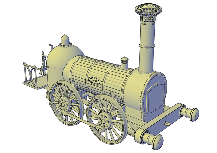 1836 Bury goods locomotive 3D Print 234663