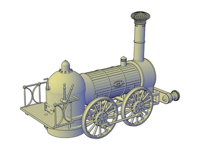 1836 Bury goods locomotive 3D Print 234664