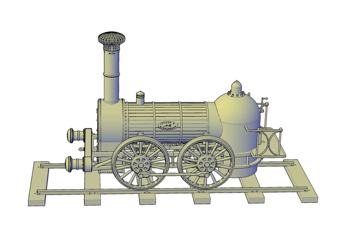 1836 Bury goods locomotive 3D Print 234665