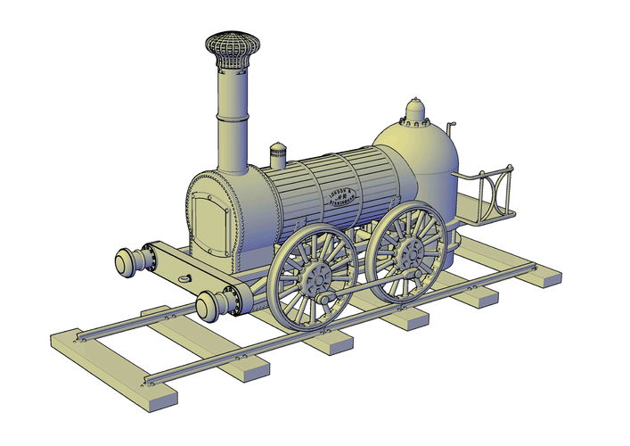 1836 Bury goods locomotive 3D Print 234666