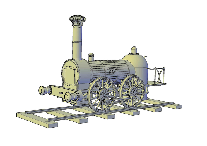 1836 Bury goods locomotive 3D Print 234667