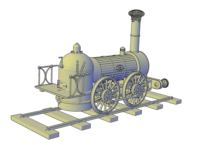 1836 Bury goods locomotive 3D Print 234668