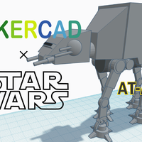Small Simple AT-AT with Tinkercad 3D Printing 234673