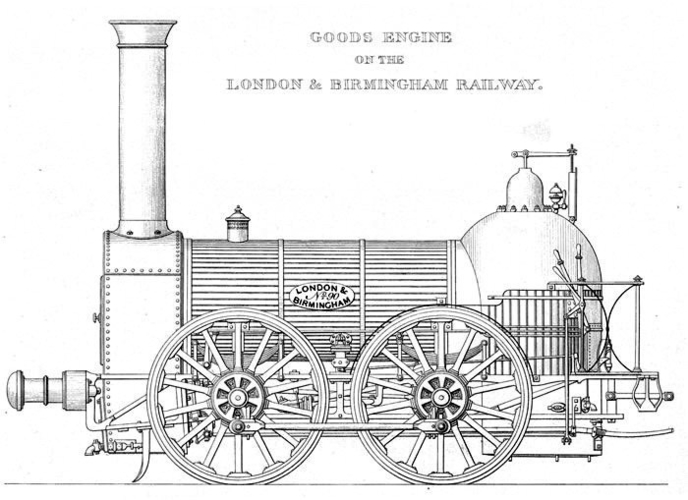 1836 Bury goods locomotive 3D Print 234675