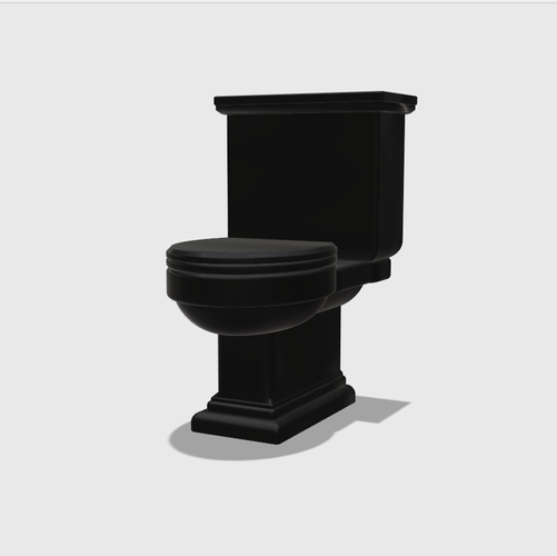 Dollhouse Miniature Toilet 1:48, 1:24, 1:12 and 1:6 Scale 3D Print 234696
